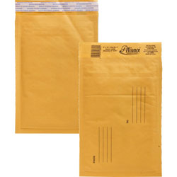"Alliance Rubber Envelopes #0, Self Sealing, Bubble Cushioned, 6"" x 10"""