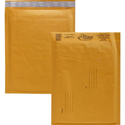 "Alliance Rubber Envelopes #2, Self Sealing, Bubble Cushioned, 8 1/2"" x 12"""
