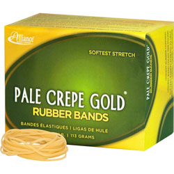 "Alliance Rubber Rubber Bands, Size 16, 1/4 lb., 2 1/2""x1/16"", Crepe"