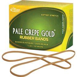 "Alliance Rubber Rubber Bands, Size 117B, 1/4 lb., 7""x1/8"", Crepe"