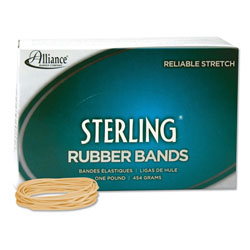 Alliance Rubber Ergonomically Correct Boxed Rubber Bands, Size 19, Approx. 1,750, 1 lb. Box