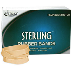 Alliance Rubber Ergonomically Correct Boxed Rubber Bands, Size 84, Approx. 210, 1 lb. Box