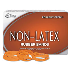 Alliance Rubber Latex Free Rubber Bands Orange, Assorted Sizes , 1 Lb Box