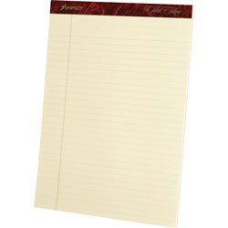 "Ampad Ivory Legal Pads, 20 lb., Legal Ruled, 8 1/2"" x 11 3/4"""