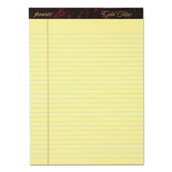 Ampad Gold Fibre Writing Pads, Legal/Wide, 8 1/2 x 11 3/4, Canary, 50 Sheets, 4/Pack