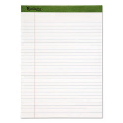 Ampad Earthwise Recycled Writing Pad, 8 1/2 x 11 3/4, White, Dozen