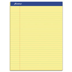 "Ampad Perforated Writing Pad, 8 1/2"" x 11 3/4"", Canary, 50 Sheets, Dozen"