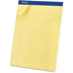 "Ampad Perforated Pad, Legal, 50 Sheets/Pad, 8 1/2""x11 3/4"", CY"
