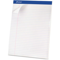 "Ampad Perforated Pad, Legal, 50 Sheets/Pad, 8 1/2""x11 3/4"", WE"