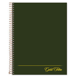 Ampad Gold Fibre Wirebound Writing Pad w/Cover, 9 1/2 x 7-1/4, White, Green Cover