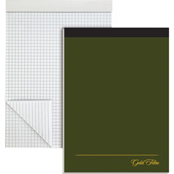 "Ampad Design Pad, Ruled 4x4Sq/Inch, 80 Sheets, 8 1/2"" x 11 3/4"" White"