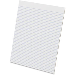 Ampad Glue Top Pads, Narrow Rule, 8 1/2 x 11, White, 50 Sheets, Dozen