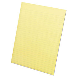 Ampad Glue Top Pads, 8 1/2 x 11, Canary, 50 Sheets, Dozen