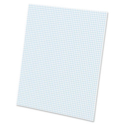 Ampad Quadrille Pads, 5 Squares/Inch, 8 1/2 x 11, White, 50 Sheets