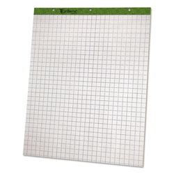 "Ampad Flip Charts, 1"" Quadrille, 27 x 34, White, 50 Sheets, 2/Pack"