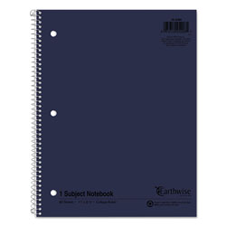 Ampad Earthwise 100% Recycled Single Subject Notebooks, 8 1/2 x 11, White, 80 Sheets