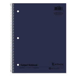 Oxford Earthwise 100% Recycled Single Subject Notebooks, 8 1/2 x 11, White, 100 Sheets
