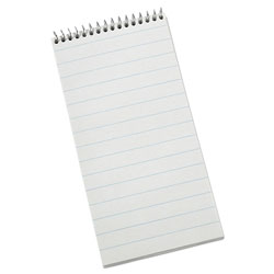 Ampad Earthwise Recycled Reporter's Notebook, Pitman Rule, 4 x 8, White, 70 Sheets