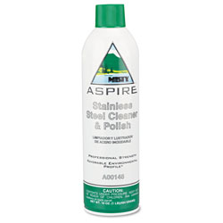 Misty Aspire Stainless Steel Cleaner & Polish, Lemon Scent, 16oz Aerosol