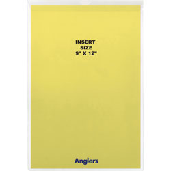 "Anglers Company Clear Vinyl Envelopes with Flap, 9"" x 12"""
