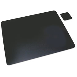 Artistic Office Products Leather Desk Pad, 19 x 24, Black