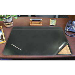 Artistic Office Products Desk Pad with Privacy Cover, 19 x 24, Black