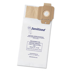 Janitized Commercial Vacuum Cleaner 2-Ply Paper Bag