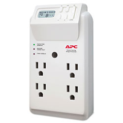APC Power-Saving Timer Essential SurgeArrest Surge Protector, 4 Outlets, 1020 J