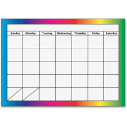 Ashley Dry Erase Magnetic Calendar 1 Month Multi