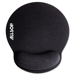 "Allsop Memory Foam Mouse Pad with Wrist Rest, Black, 7 1/4"" x 8 1/4"""
