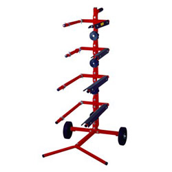 "Astro Pneumatic 16 22"" Masking Tree for 4 Paper Rolls and 4 Tape"
