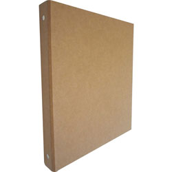 "Aurora 100% Recycled Ring Binder, 1/2"" Capacity, Brown"