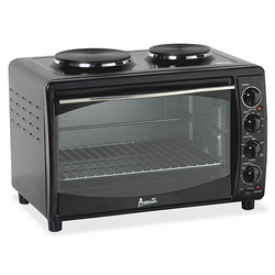 "Avanti Products Multifunction Oven w/Burner, 22-3/4"" x 15-3/4"" x 15-2/5"", BK"