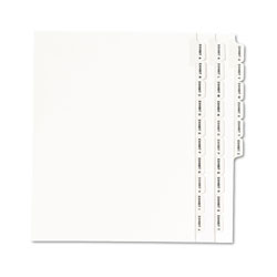 Avery A-Z Side Tab Dividers, Letter, White