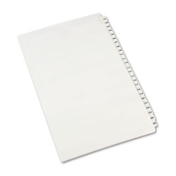 Avery Legal Side Tab Dividers, 101-125, White