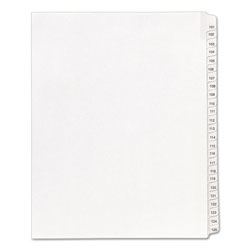 Avery Allstate Legal Side Tab Dividers, 101-125, White