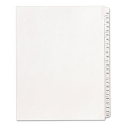 Avery Allstate Legal Side Tab Dividers, 126-150, White