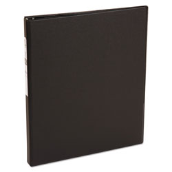 "Avery 42% Recycled Economy Round Ring Reference Binder, 1/2"" Capacity, Black"