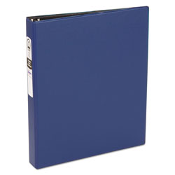 "Avery 42% Recycled Economy Round Ring Reference Binder, 1"" Capacity, Blue"