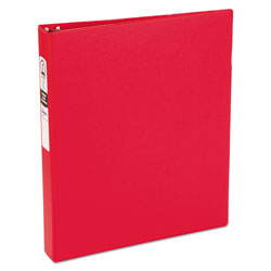 "Avery 42% Recycled Economy Round Ring Reference Binder, 1"" Capacity, Red"