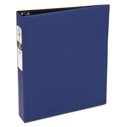 "Avery 42% Recycled Economy Round Ring Reference Binder, 1 1/2"" Capacity, Blue"