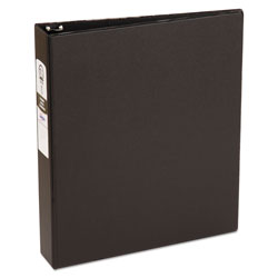 "Avery 42% Recycled Economy Round Ring Reference Binder, 1 1/2"" Capacity, Black"