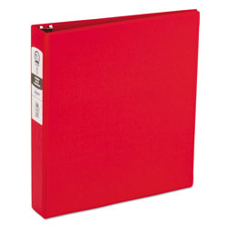 "Avery 42% Recycled Economy Round Ring Reference Binder, 1 1/2"" Capacity, Red"