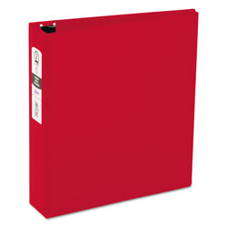 "Avery 42% Recycled Economy Round Ring Reference Binder, 2"" Capacity, Red"