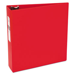 "Avery 42% Recycled Economy Round Ring Reference Binder, 3"" Capacity, Red"
