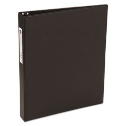 "Avery 42% Recycled Economy Round Ring Reference Binder, 1"" Capacity, Black"