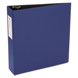 "Avery 42% Recycled Economy Round Ring Reference Binder, 3"" Capacity, Blue"