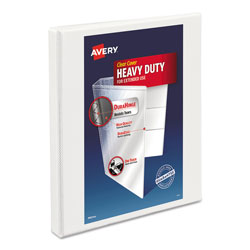 "Avery Nonstick Heavy Duty 1/2"" View Binder, White"