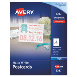 "Avery Inkjet Postcards, Perforated, 5 1/2""x4 1/4"" 200 per Pack, White"