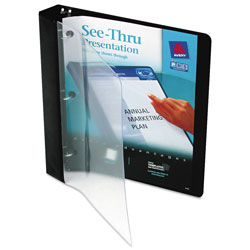 "Avery See Thru™ 1"" View Binder, Black"